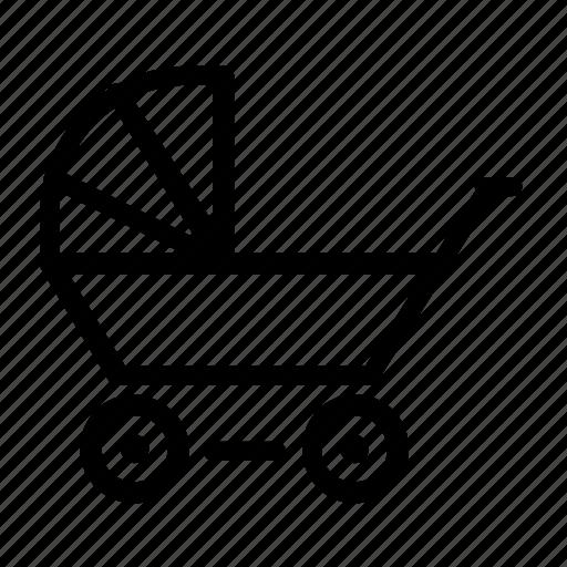baby, pram, stroller icon