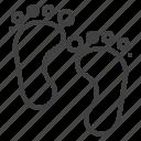 baby, feet, footprint, step icon