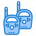 communication, phone, radio, transceiver, walkie icon