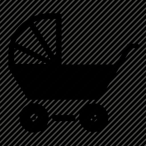child, stroller icon