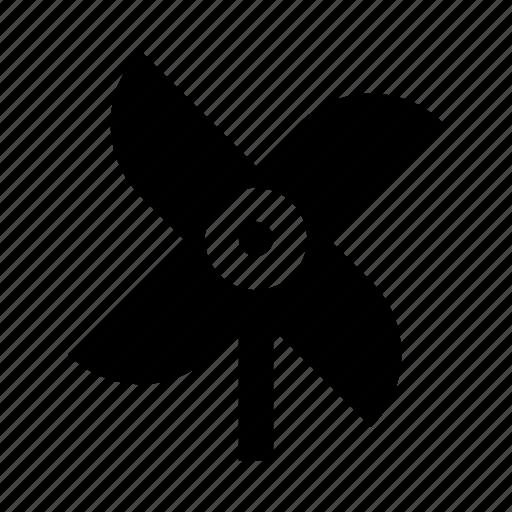 pinwheel, play, toy, wind icon