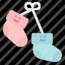 baby, clothing, healthcare, kid, sock icon
