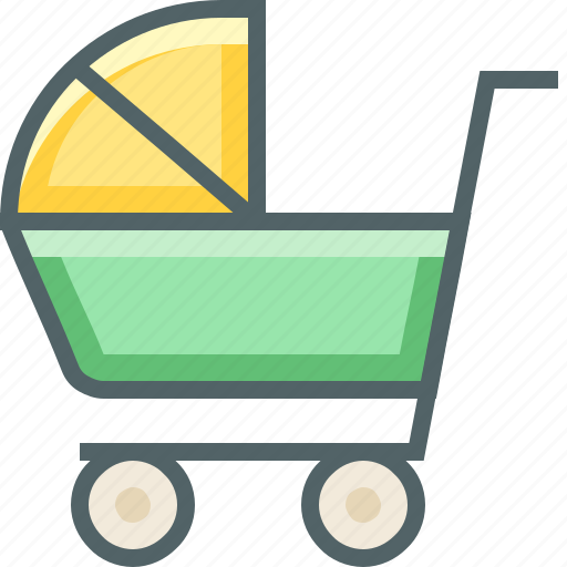 baby, cart icon