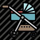 baby, kid, pushchair, stroller