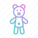 bear, children, puppet, teddy, toy icon