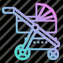 baby, kid, pushchair, stroller icon
