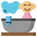 bath, bathroom, clean, kid, shower, tub icon