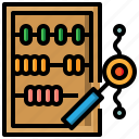 abacus, baby, calculator, children, mathematics, maths, toy icon
