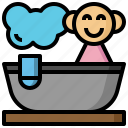 bath, bathroom, clean, kid, shower, tub icon