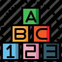 abc, baby, block, child, cube, kid icon