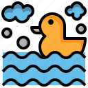 duck, entertainment, leisure, life, preserver, ring, rubber icon
