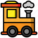 children, locomotive, railroad, toy, toys, train, transport icon