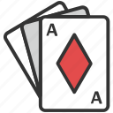 card game, cards, casino, club card, diamond cards, gambling, poker icon
