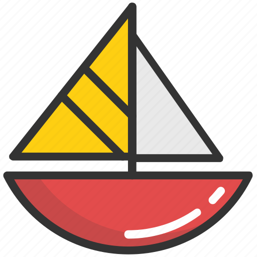 boat, kid toy, sailboat, ship toy, transport icon
