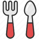 dining, foodstuff, fork and spoon, silverware, tableware icon