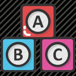 abc block, alphabet blocks, education, english, kindergarten icon