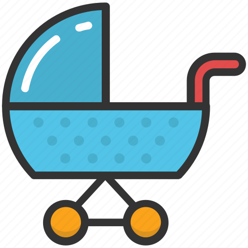 Baby buggy, carriage, baby carriage, baby transport, baby cart icon