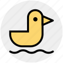 animal, baby toy, bird, duck, pet, toy, water icon