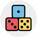 baby, dice, gamble, gambling, kids, roll, toy icon