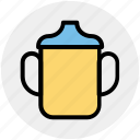 baby, baby bottle, boy, drink, girl, kids, milk bottle icon