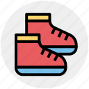 baby, baby shoes, child, children, footwear, shoes icon