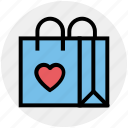 bag, child, fashion, heart, purse, shopping bag, toys bag icon