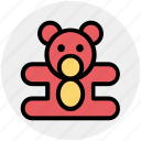 bear, children, kids, teddy, teddy bear, toys icon