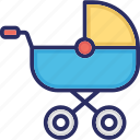 baby buggy, baby carriage, carriage, baby cart, baby transport icon