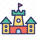 baby toy, building, castle, castle toy, fortress icon