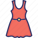 baby frock, cotton frock, frock, girl dress, girl frock icon