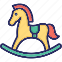 baby horse, baby toy, cradle, horse, toy icon