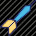 archery, arrow, dart, dart pin, dart stick icon