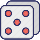 casino, dices, domino, gambling, game icon