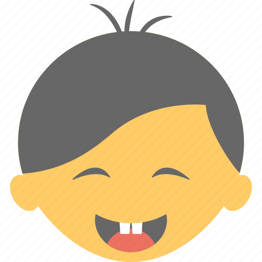 baby face, cheerful baby, first tooth, happy face, laughing baby icon