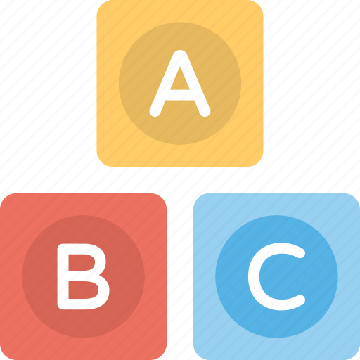 alphabets, blocks, shapes, square, toys icon