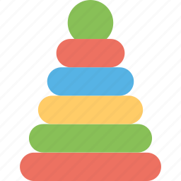colorful toy, educational toy, multicolored toy, pyramid toy, stacking toy icon