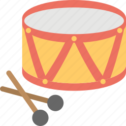 drum with sticks, fun toy, kids toy, music toy, toy drum icon