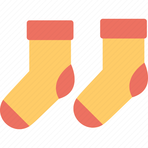 baby socks, clothes, colorful socks, footwear, stockings icon