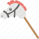 hobby horse, kids toy, stick horse, cock horse, toy horse icon