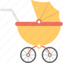 baby carrier, baby transport, pram, pushchair, stroller icon