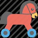 hobby horse, plush horse, toy, toy horse, wooden horse icon