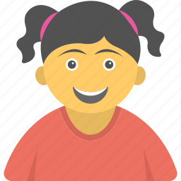 cheerful kid, girl, happy child, smiling child, smiling girl icon