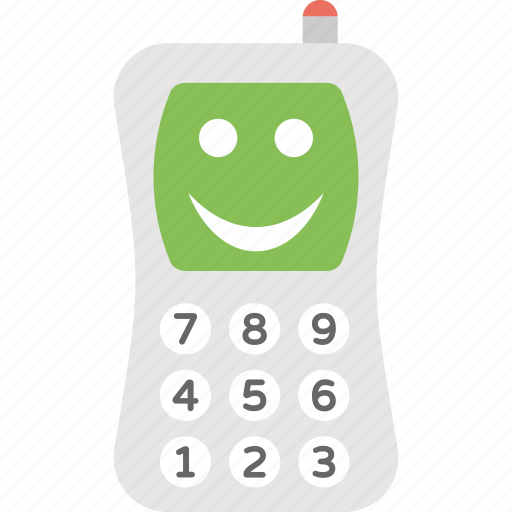 cellular toy, child toy, dial and play, toy mobile, toy phone icon