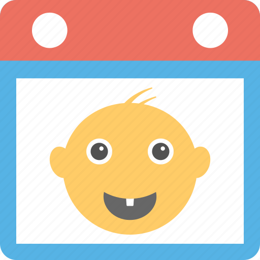 baby calendar, baby greetings, baby tooth, childhood memories, first tooth icon