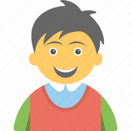 cheerful kid, child, happy child, joyful kid, smiling child icon