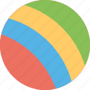 accessory, colorful ball, kids, play, toy icon