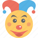 birthday party, circus clown, clown, kids party, mask icon