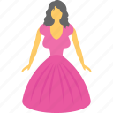barbie, doll, kids toy, old fashioned, toy icon