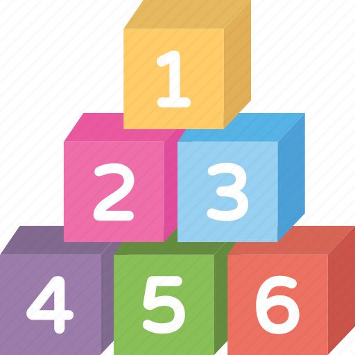block toy, building blocks, kids number toy, number blocks, wooden numbers icon