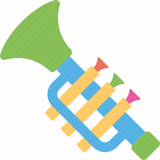 horn, musical toy, saxophone, trombone, trumpet icon